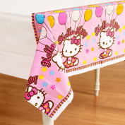 Amscan Hello Kitty Balloon Dreams 140cm x 240cm Plastic Table Cover