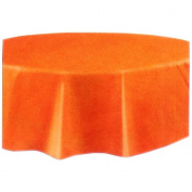Orange Round 210cm Plastic Party Table Cover More Colours Avail