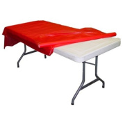 Red plastic table roll