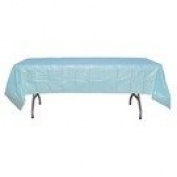 Light Blue plastic table cover