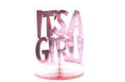 It's A Girl Foil Honeycomb 25cm Centrepiece