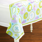 Amscan 190714 Sweet Blessing Blue Tablecover