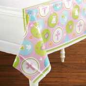 Amscan 190708 Sweet Blessing Pink Tablecover