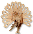 3-D Wooden Puzzle - Peacock -Affordable Gift for your Little One! Item #DCHI-WPZ-M014