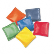 Champion Sports Products - Champion Sports - Bean Bag Set, Vinyl, 10cm , Assorted Colours, 6/Set - Sold As 1 Set - Double-reinforced, 10cm vinyl covered. - Sewn with soft corners and filled with nontoxic plastic pellets. - Lightweight. - Set of six bag ..