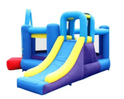 Bounceland Pop Star Bounce House with Slide - Red/ Purple