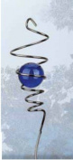 Red Carpet Studios Cyclone Tail Wind Spinner, 28cm Long, Chrome with Blue Marble