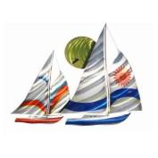Next Innovations WA3DLSAILS CB Sailboat Refraxions 3D Wall Art