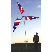 2.9m Stars and Stripes Patriotic Wind Generator Outdoor Lawn Spinner