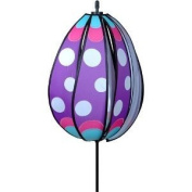 Purple Polka Dots Egg Decorated Easter Egg Wind Spinner