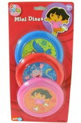 Nickelodeon Dora The Explorer 3 pcs mini flying discs set