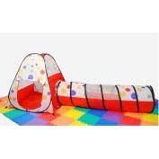 eWonderWorld Polka Dot Teepee Play Tent House w/ Tunnel & Tote
