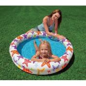 120cm X 25cm Inflatable Stars Kiddie 2 Ring Circles Swimming Pool By Intex