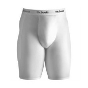 McDavid 7211YCFT Padded Sliding Shorts & Cup White Youth S