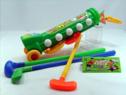 Deluxe Children Toy Golf Badminton Set Hole Flags [3099B]