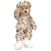"Chantilly Lane 48cm American GI Hero Bear Sings ""God Bless The USA"""