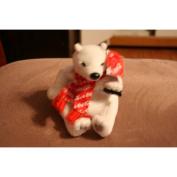 Coca Cola Polar Bear In Red Coca Cola Snowflake Scarf Bean Bag Plush-World Of Coca Cola Exclusive #0159