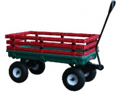 Millside Industries 04220 50cm . x 100cm . Plastic Deck Waggon with 10cm . x 25cm . Tyres - Green