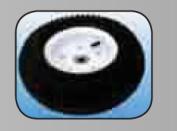 Millside Industries 04023 13cm . x 33cm . Pneumatic Tyre