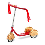 Morgan Cycle Retro Scooter Red & Gold
