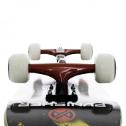 Punisher Skateboards Teddy Complete Skateboard - Red/Blue