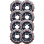 BARBED WIRE 80mm 80a Rollerblade INLINE Wheels 8-Pack
