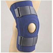 FLA Orthopedics FL37-1031LNVY SAFE-T-SPORT Neoprene Patella Stabilizing Knee Support with Removable Horseshoe - Size- X-Large