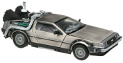 "1/18 Diecast Model Delorean Time Machine From ""Back to the Future 2"" Movie"