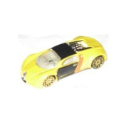 2007 Mystery Car Series Bugatti Veyron Yellow Opened Mattel Hot Wheels 1:64 Scale Collectible Collector Car