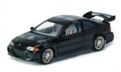the fast and the furious 1995 honda civic diecast race car 1 18 scale by racing champions shop. Black Bedroom Furniture Sets. Home Design Ideas