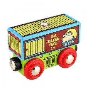 Bigjigs Single Wooden Train Rolling Stock Golden Egg Company Waggon