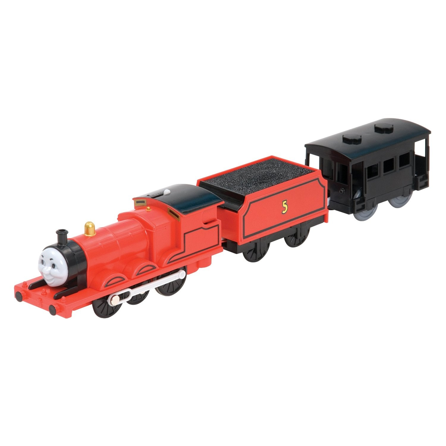 Trackmaster James Motorised Engine With Car By Thomas Friends