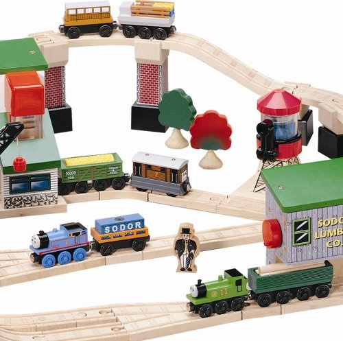 Thomas Friends Wooden Railway Lift Load Set