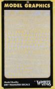 Roman Stencil/Block Letters, Yellow