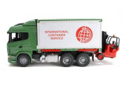 Bruder Scania R-Series Truck with interchangeable Container and forklift