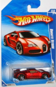 Hot Wheels 2010-160 RED Bugatti Veyron Hot Auction 1:64 Scale