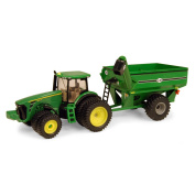 Ertl Collectibles 1:64 John Deere 8320R Tractor With J And M Grain Cart