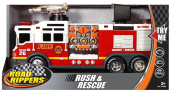 Toystate 36cm Rush And Rescue Police And Fire - Hook And Ladder Fire Truck