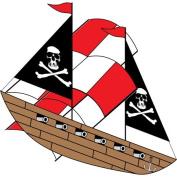 3D Nylon Pirate Ship Kite w/Twine & Winder