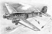 German Transport Plane Junkers JU-52 Snap Kit