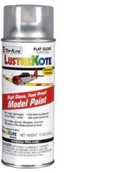 Top Flite Flat Clear LustreKote Spray (10 oz) by Top Flite
