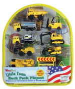 Construction Vehicles Backpack Playset