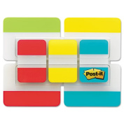 Post-it Tabs Value Pack, 2.5cm and 5.1cm , Aqua, Lime, Red, Yellow, 114 Ct
