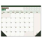 Blueline C177227 DuraGlobe Monthly Desk Pad Calendar 22 x 17 2013