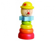 EverEarth Educational Stacking Clown Wooden Shape Sorter [Wooden Toy]