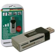 Digitus Card Reader USB 2.0 Stick Supports MS, MS Pro, MS Duo, MS Pro Duo, HS MS, SD, mini SD,