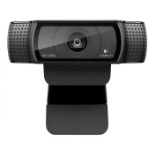 LOGITECH C920 HD Pro Webcam Carl Zeiss optics 15-megapixel snapshots 1080p video calling on Skype
