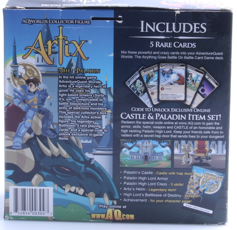 Adventure Quest Worlds Figure - Artix the Paladin