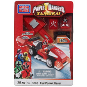 Mega Bloks Power Rangers Samurai Red Pocket Racer