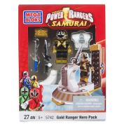 Mega Bloks Power Rangers Samurai Gold Ranger Hero Pack